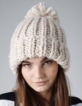 Oversized Hand-Knitted Beanie