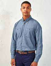 Men`s Organic Chambray Fairtrade Long Sleeve Shirt