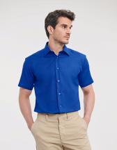 Men`s Short Sleeve Tailored Oxford Shirt